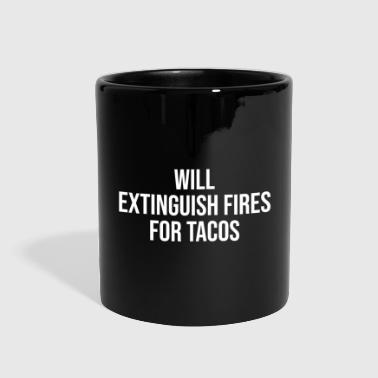 Funny Firefighter Fires Taco Lover Gift T-shirt - Full Color Mug