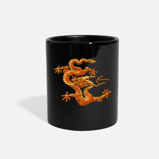 Hipster Mugs & Drinkware - Chinese loong.Funny,Cool,Humor,Fun,Geek,Hipster,dr - Full Color Mug black