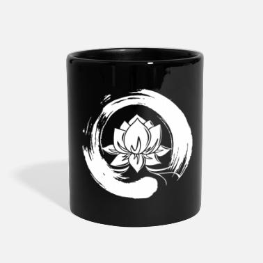 Enso Zen Circle Lotus Flower Symbol Buddhism Yoga - Full Color Mug