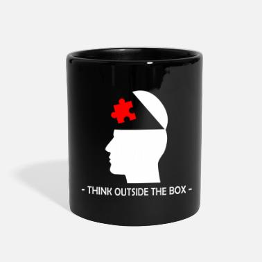Lateral Thinker Think Outside The Box Querdenker Geek Geschenk - Full Color Mug
