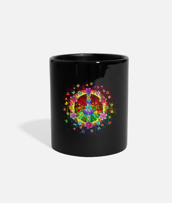 Pattern Mugs & Cups - peace Kopie grunge - Full Color Mug black