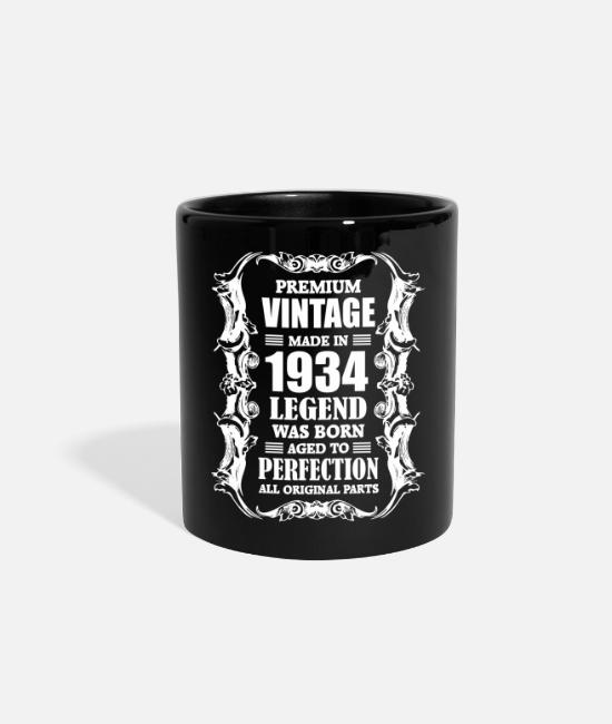 Legend Mugs & Cups - Premium Vintage Made in 1934 Legend was Born aged - Full Color Mug black