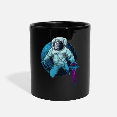 Freediving Space Astronaut Funny Underwater Diver Jellyfish - Full Color Mug