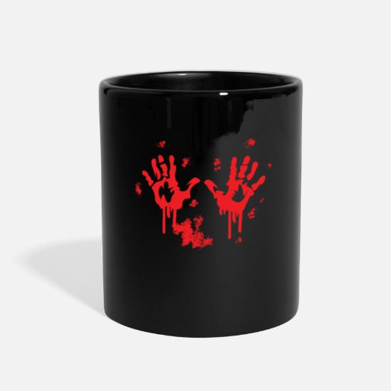 Bloody handprint bloody hand Full Color Mug | Spreadshirt