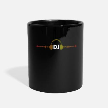 Deejay Play my music dj! Music techno rave design - Full Color Mug