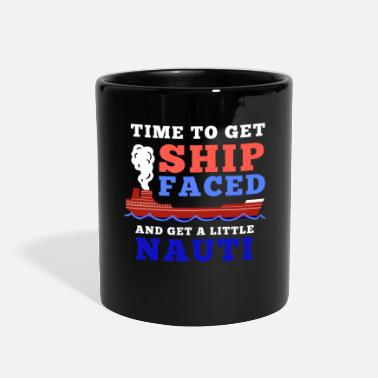 Beachparty Funny Vacation Quote - Time to get Ship Faced Gift - Full Color Mug