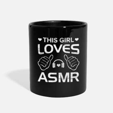Keep Calm ASMR Relaxe Relaxeation Whisperer Girl Gift - Full Color Mug