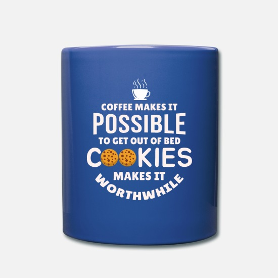 Donut Mugs & Drinkware - Cookie Confiserie Bake Cookies Baking Coffee - Full Color Mug royal blue