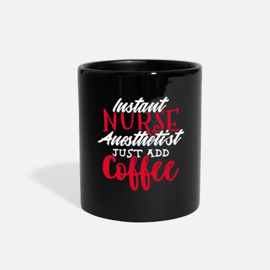 Who Mugs & Drinkware - Nurse Anesthetist Anesthesia Doctor Nursing Gift - Full Color Mug black