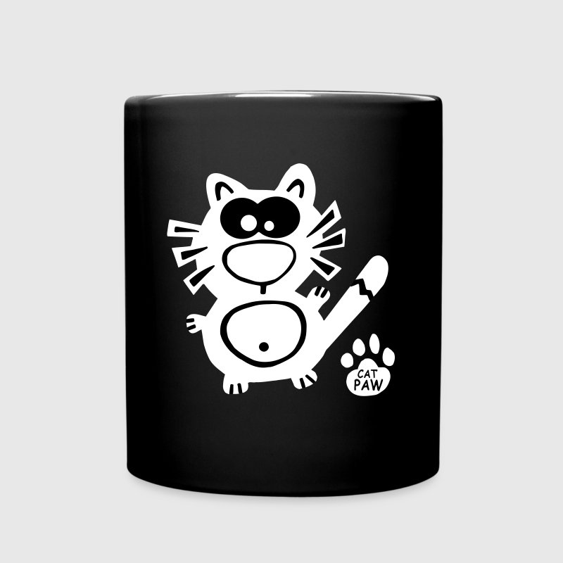 Catpaw Cat Cats Meow Funny Geek Comic Cool Fun - Full Color Mug