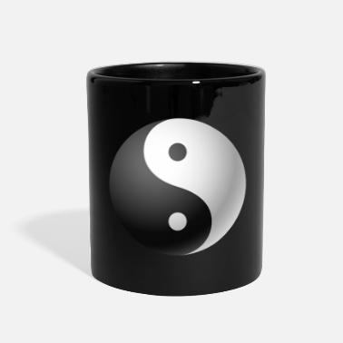 Culture &amp Ying yang black & white - Full Color Mug