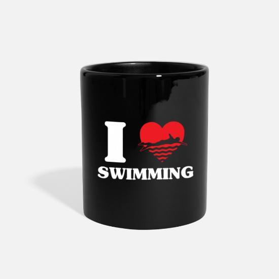 Gift Idea Mugs & Drinkware - Swimming - Full Color Mug black