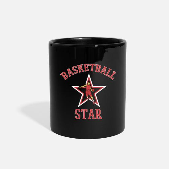 Birthday Mugs & Drinkware - Basketball Star Player Coach Fan Lover Team Gift - Full Color Mug black