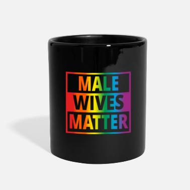 Pride Male Wifes Matter Bachelor Party Gay Pride Gift - Full Color Mug