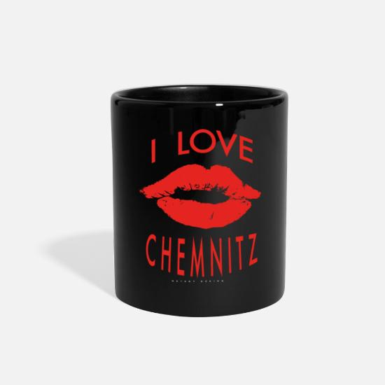 Love Mugs & Drinkware - I LOVE CHEMNITZ - Full Color Mug black