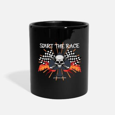 Tuning start the race, skull, motorcycle, HD - Full Color Mug