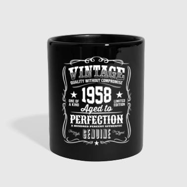 1958 Vintage 1958 Aged to Perfection White Print - Full Color Mug