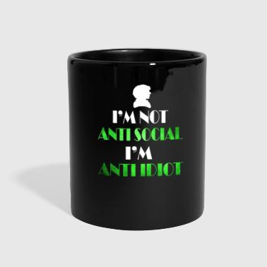 anti social - Full Color Mug