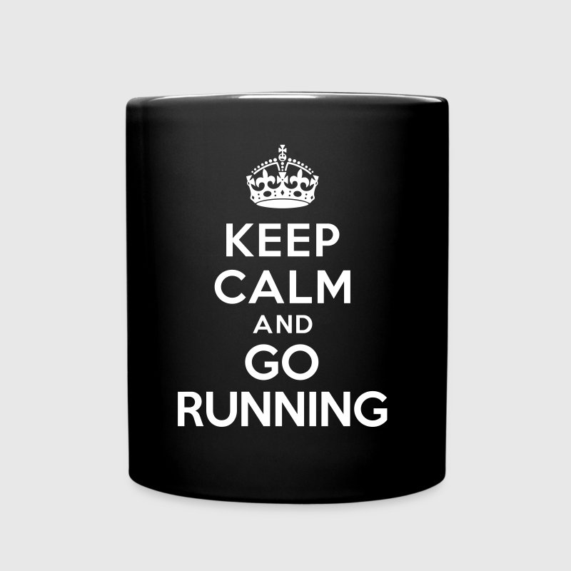 Keep calm and go running - Full Color Mug