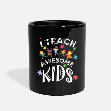 Autism Awareness Autism Awareness I Teach Awesome Kids Teacher - Full Color Mug