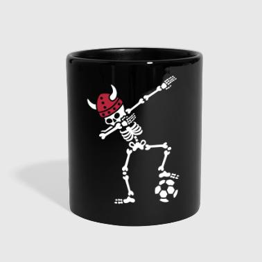 Denmark dab dabbing skeleton soccer football - Full Color Mug
