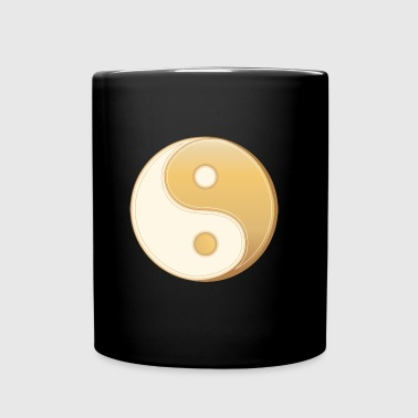 Yin yang yellow symbol - Full Color Mug
