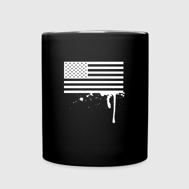 american_flag_splatter - Full Color Mug