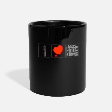 Scuba Barcode - I Love Diving - - QR Code- Scannen - Full Color Mug