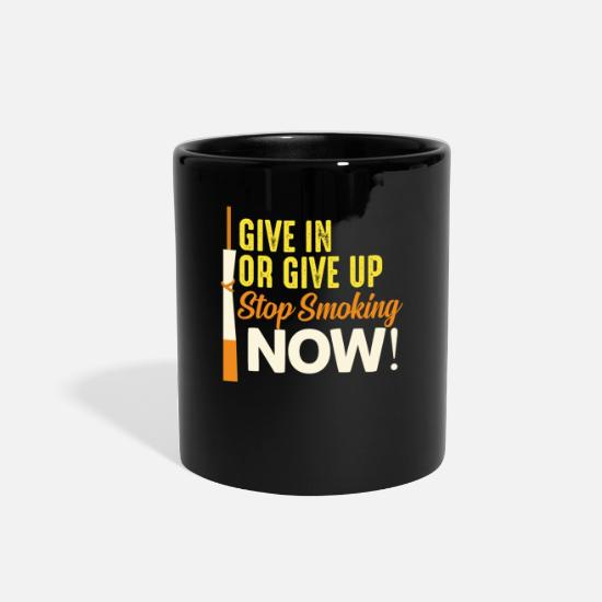 Gift Idea Mugs & Drinkware - Smoking, Smoker, Smoke - Full Color Mug black