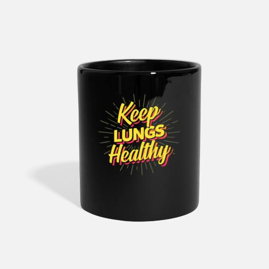 Gift Idea Mugs & Drinkware - No Smoking, Stop Smoking, No Smoker - Full Color Mug black