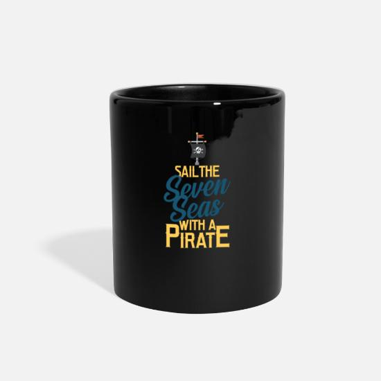 Pirate Mugs & Drinkware - Pirate, Pirate flag, Pirate ship - Full Color Mug black
