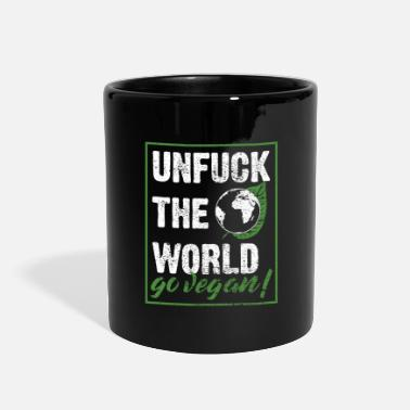 Unfuck The World Go Vegan Gift Idea - Full Color Mug