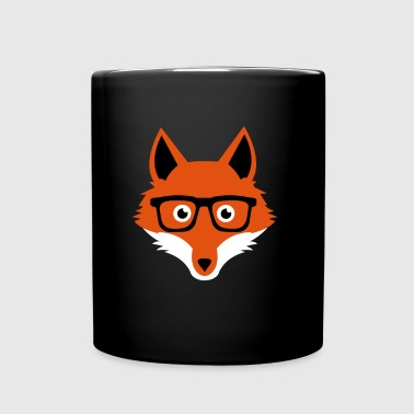 Sweet Funny hipster fox with nerd glasses - Full Color Mug