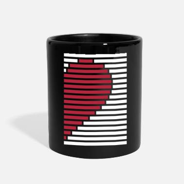Heart heart partner shirt right - Full Color Mug