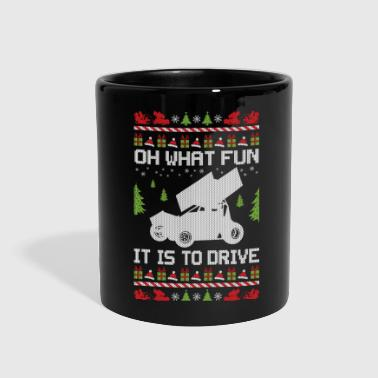 Sprinting Sprint Car Christmas - Full Color Mug
