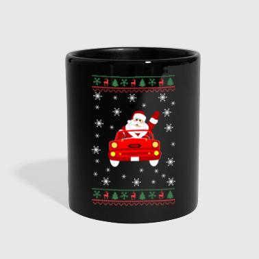 Drive Go By Car Funny Ugly Christmas With Santa Driving Car - Full Color Mug