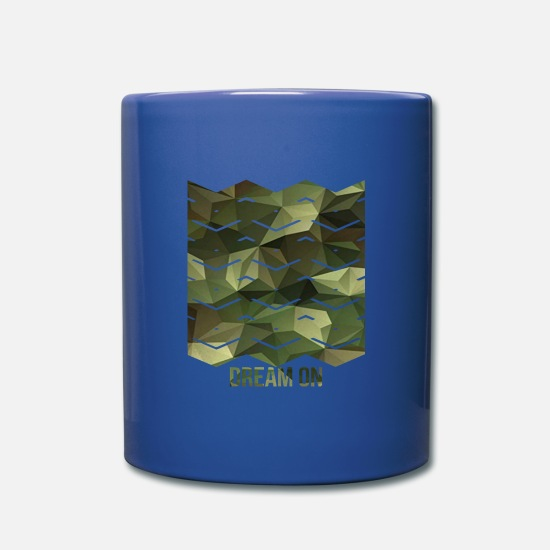 Cool Mugs & Drinkware - Pattern with waves - Dream on camouflage pattern - Full Color Mug royal blue