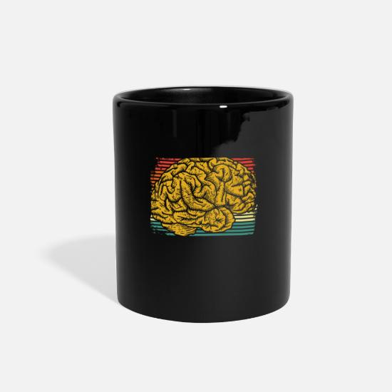 Psychology Mugs & Drinkware - Brain Psychology student - Full Color Mug black