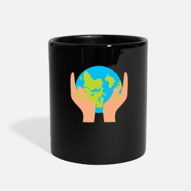Hands Holding The Earth Funny Earth - Hands Holding Globe - Planet Humor - Full Color Mug