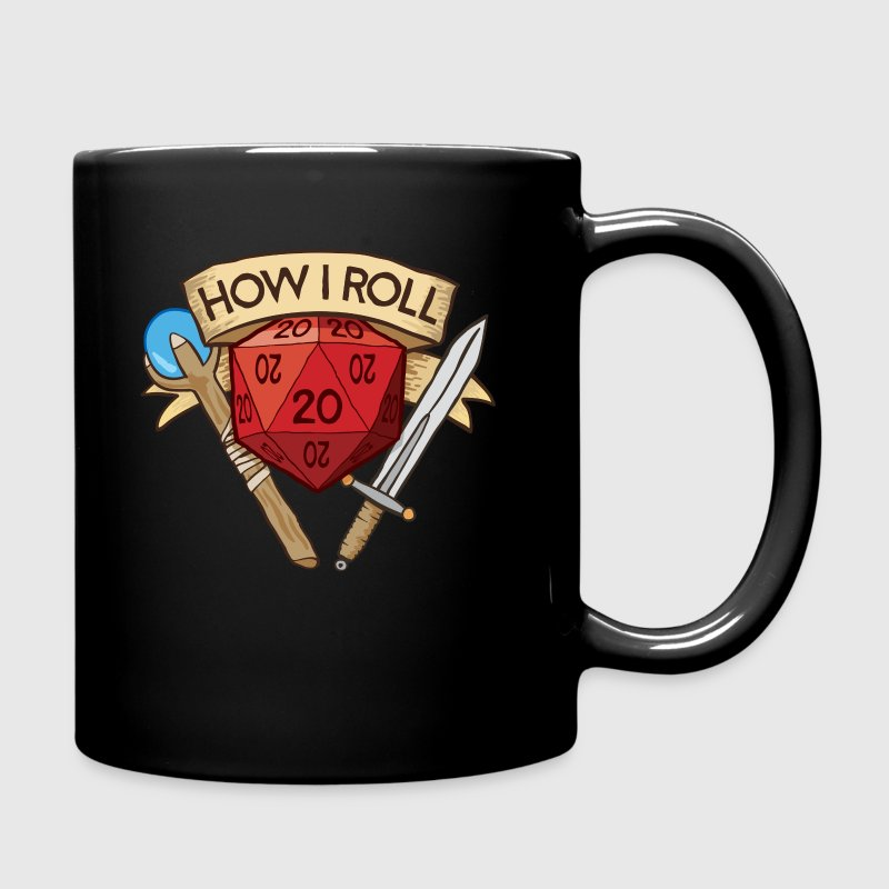 How I Roll D&D DND - Full Color Mug