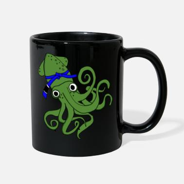 Ocean Creatures Funny Octopus - Squid Ocean Creature Cephalopod - Full Color Mug