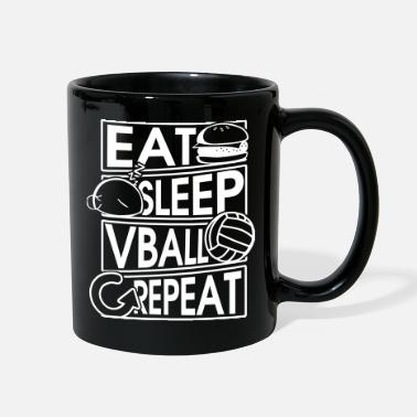 Volleyball Player Eat Sleep Vball Repeat Volleyball Geschenk - Full Color Mug