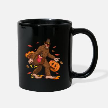 Bigfoot Thanksgiving Day Funny Bigfoot Thanksgiving Day Turkey Costume - Full Color Mug