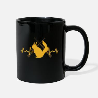 Squirrel Squirrel Hunting Season Heartbeat Funny Hunter - Full Color Mug