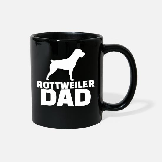 Animal Mugs & Drinkware - Rottweiler - Full Color Mug black