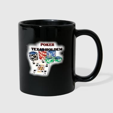 Texas Holdem Chipstack and Aces T-Shirts - Full Color Mug