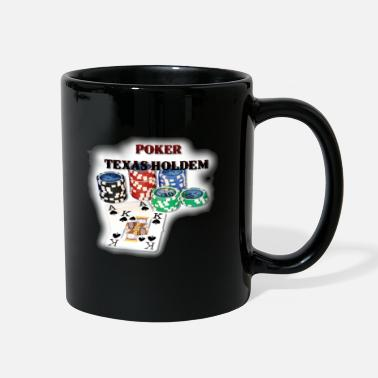 Holdem Texas Holdem Chipstack and Aces T-Shirts - Full Color Mug