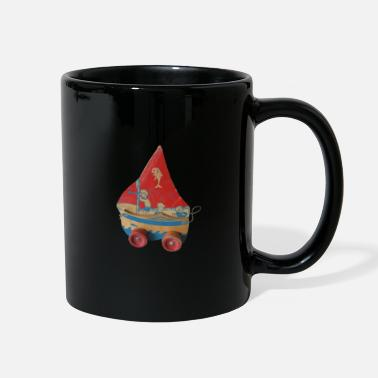 Red Sailed Boat SAIL BOAT PULL TOY - Full Color Mug