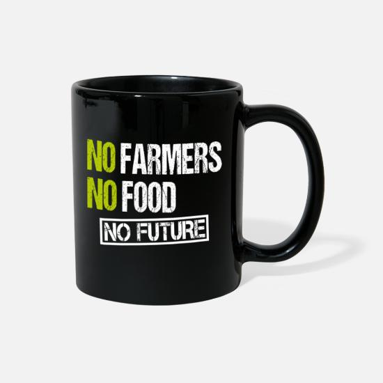Occupy Mugs & Drinkware - Farmer Protest Demonstration Farming Agriculture - Full Color Mug black