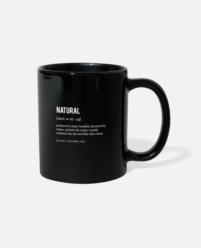 Natural Hair Mugs & Cups - Natural Hair Definition - white - Full Color Mug black